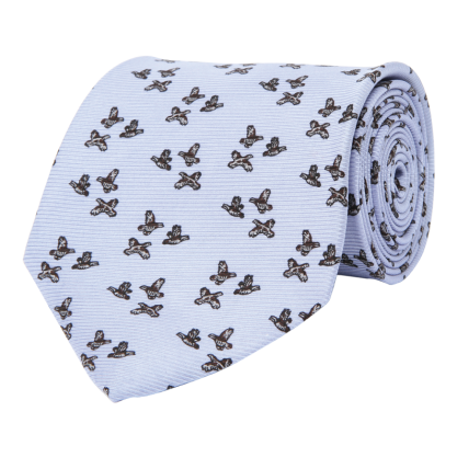 Wm. Lamb & Son - Quail Trio Tie - Blue